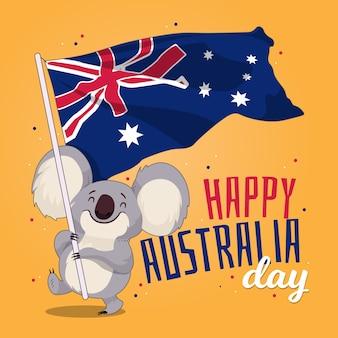 Concepto de día de australia dibujado a mano