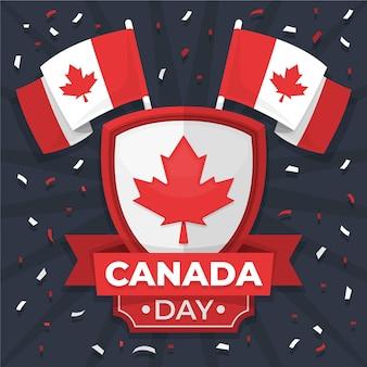 Concepto del día de canadá