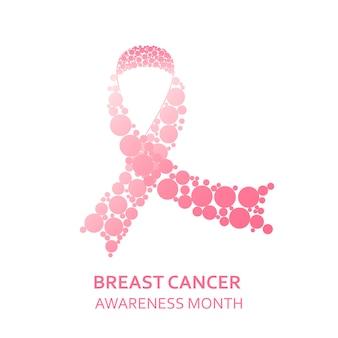 Concepto de día de cáncer de mama.
