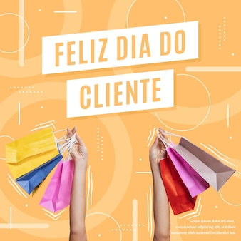 Concepto del día del cliente