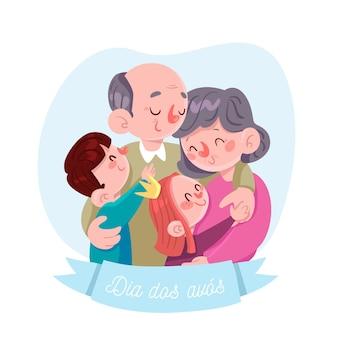 Concepto de dia dos avos dibujado a mano