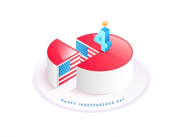 Concepto del día de la independencia americana.