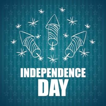 Concepto de día de la independencia con diseño de icono