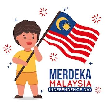 Concepto del día de la independencia de malasia