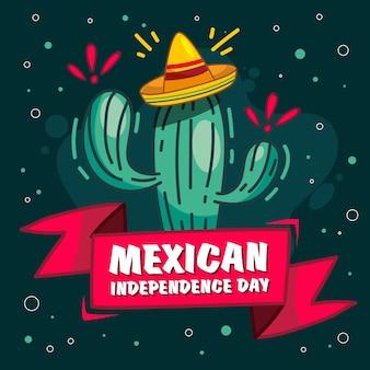 Concepto de día de independencia méxico dibujado a mano