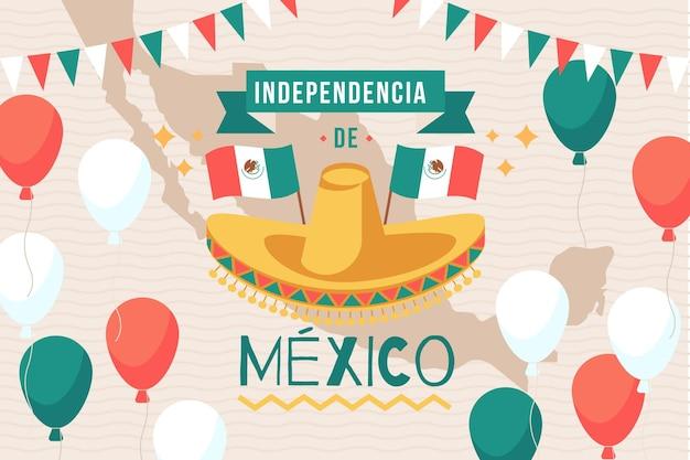 Concepto de día de independencia mexico de diseño plano