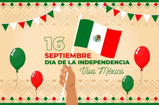 Concepto del día de la independencia de méxico