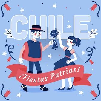 Concepto del día internacional de chile