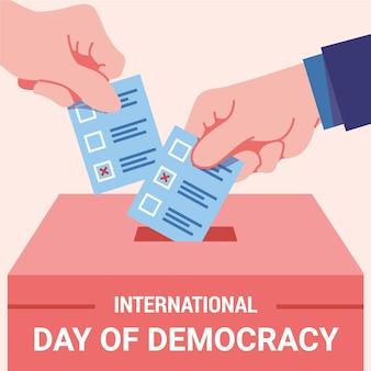 Concepto del día internacional de la democracia