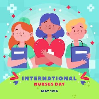 Concepto del día internacional de enfermeras