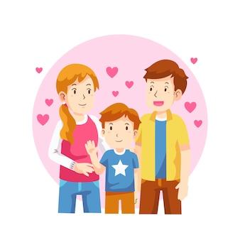 Concepto del día internacional de las familias