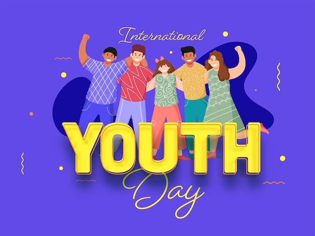 Concepto del día internacional de la juventud