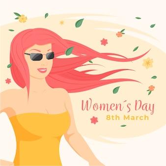 Concepto del día internacional de la mujer
