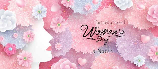 Concepto del día internacional de la mujer.