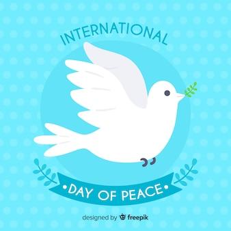 Concepto del día internacional de la paz con paloma blanca