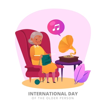 Concepto del día internacional de las personas mayores