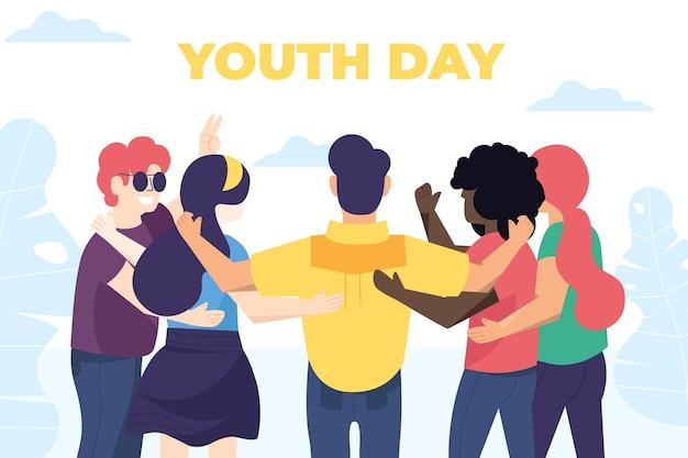 Concepto de día de la juventud de diseño plano