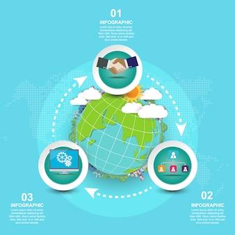 Concepto del día de la madre tierra con globo y verde