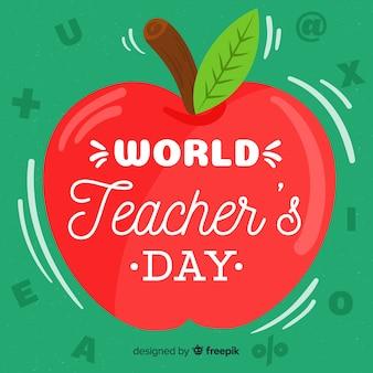 Concepto del día del maestro con letras