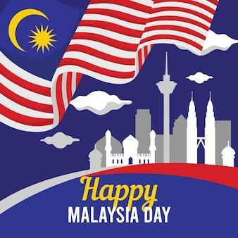 Concepto del día de malasia
