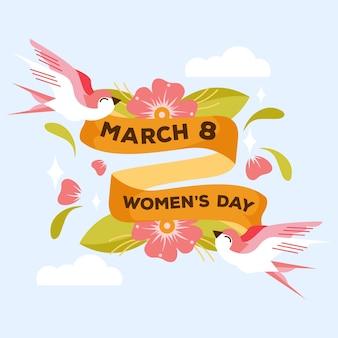 Concepto de día de mujer dibujado a mano