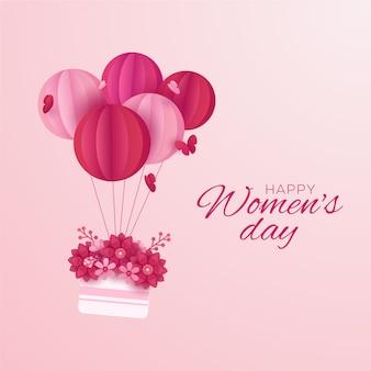 Concepto para el día de la mujer en papel