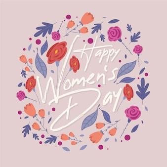 Concepto del día de las mujeres con flores.