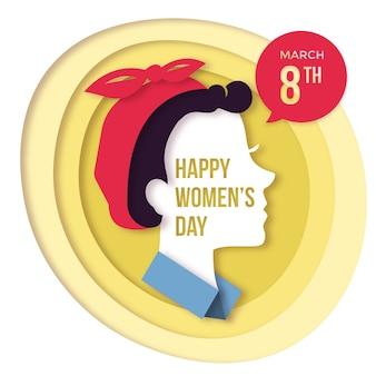 Concepto del día de las mujeres en papel