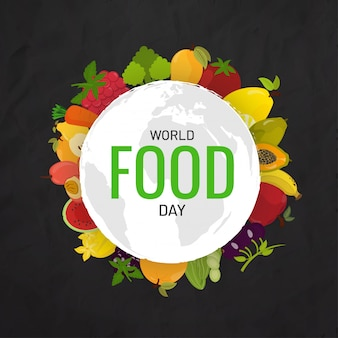 Concepto del día mundial de la alimentación.