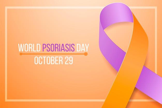 Concepto del día mundial de la concienciación sobre la psoriasis.