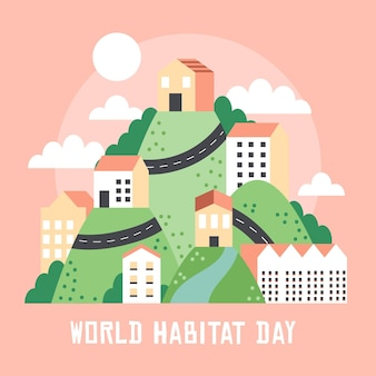 Concepto del día mundial del hábitat