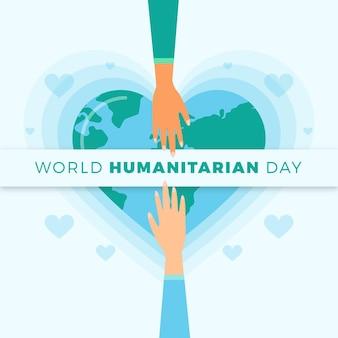 Concepto de día mundial humanitario de diseño plano