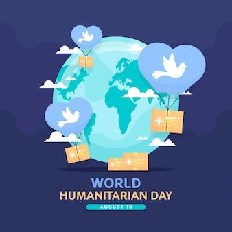 Concepto del día mundial humanitario