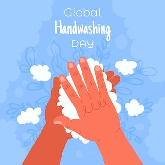 Concepto del día mundial del lavado de manos