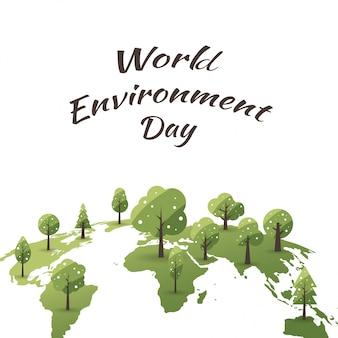 Concepto del día mundial del medio ambiente con salvar el mundo.