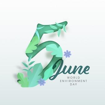 Concepto del día mundial del medio ambiente.