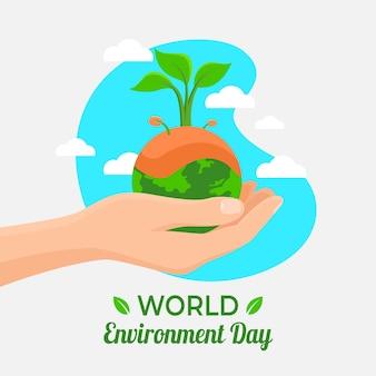 Concepto del día mundial del medio ambiente