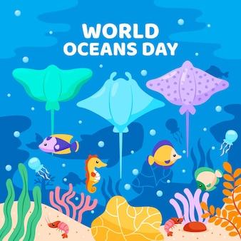 Concepto del día mundial de los océanos