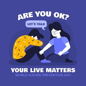 Concepto del día mundial de prevención del suicidio