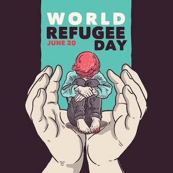 Concepto del día mundial de los refugiados