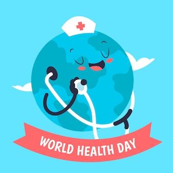 Concepto de día mundial de la salud dibujado a mano