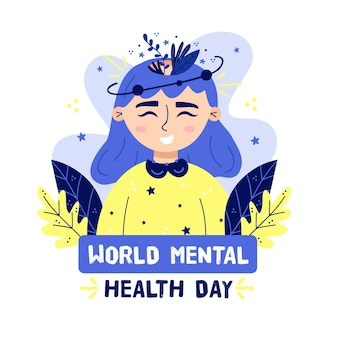 Concepto del día mundial de la salud mental