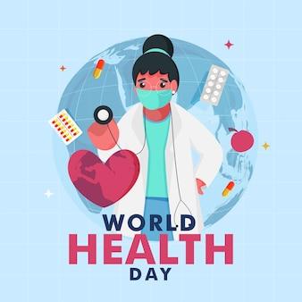 Concepto del día mundial de la salud