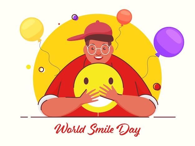 Concepto del día mundial de la sonrisa
