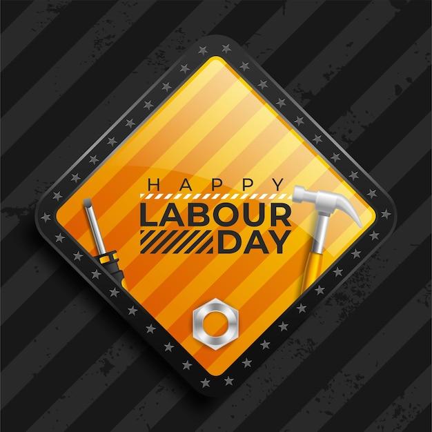 Concepto del día mundial del trabajo con herramientas de trabajo