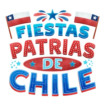 Concepto del día nacional de chile