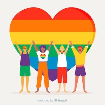 Concepto del día del orgullo lgbt