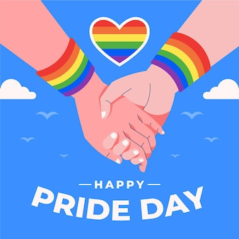 Concepto del día del orgullo que retiene las manos y el corazón