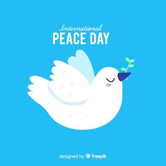 Concepto del día de la paz con un dover