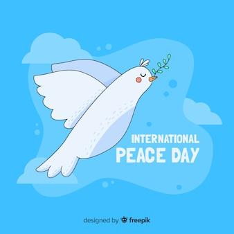 Concepto de día de paz con una paloma